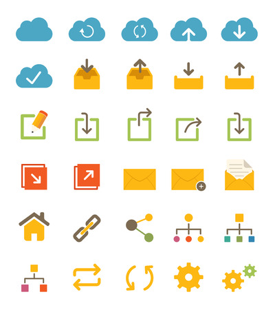 Share and Network Icons Иллюстрация