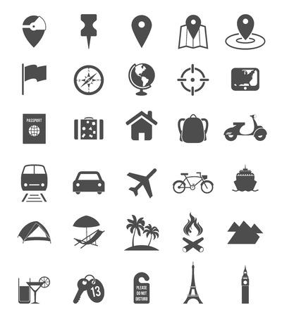 mochila viaje: Iconos de Viajes Vectores