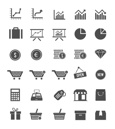 e commerce icon: Shop And Finance Icons