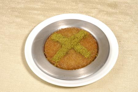 turkish dessert, kunefe Stock Photo