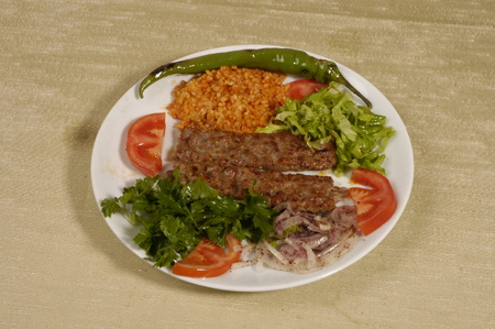 turkish food kebab, meat doner