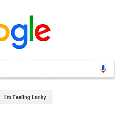 Nahaufnahme der Google-Suche.