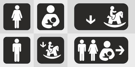 Conjunto de iconos de aseo o aseo.