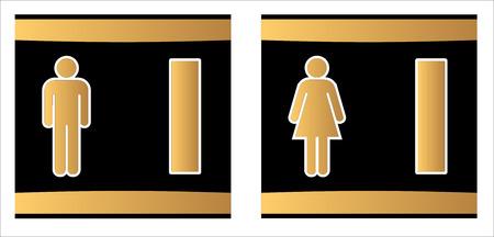 Toilet or toilet icons set.