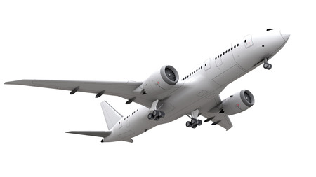 3d rendering. airplane isolated on white background. Stock Photo