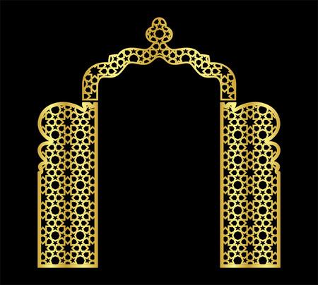 islamic laser wedding background Stock Photo - 121179432