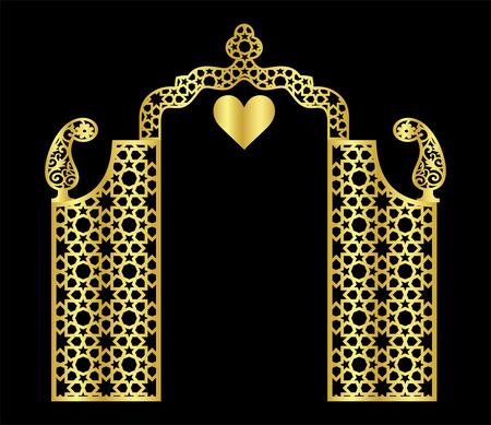 islamic laser wedding background Stock Vector - 121179538