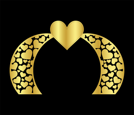 vector illustration for wedding design.