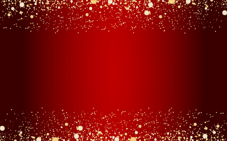 Frame of golden glitter sparkle particles on stars background. Stock Vector - 121179793
