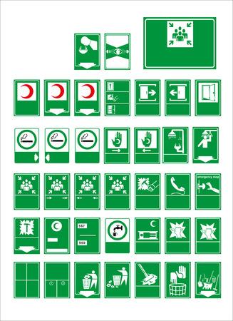 señal, señal obligatoria, señal, señal, señal, señal para calcomanías, carteles y otros materiales impresos. fácil de modificar. Vector.