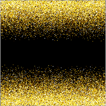 Frame of golden glitter sparkle particles on stars background. Stock Vector - 121180973