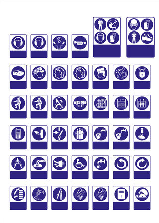 sign, mandatory, sign for sticker, posters, and other material printing. easy to modify. Vector. Stock Vector - 121180974