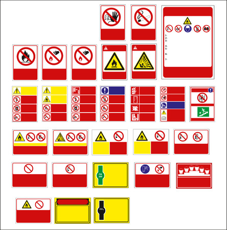 sign, mandatory sign for sticker, posters, and other material printing. easy to modify. Vector. Stock Vector - 121180976