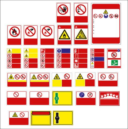 signe, signe obligatoire pour l'impression d'autocollants, d'affiches et d'autres matériaux. facile à modifier. Vecteur.