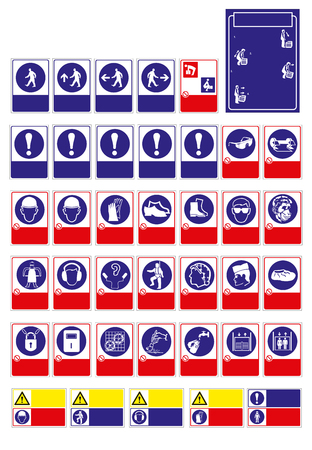sign, mandatorysign for sticker, posters, and other material printing. easy to modify. Vector. Stock Vector - 121181013