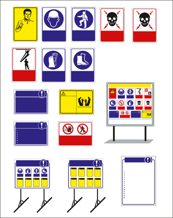 sign, mandatory sign for sticker, posters, and other material printing. easy to modify. Vector. Stock Vector - 121181014