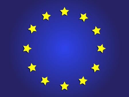 Giornata dell'Europa. Giorno festivo annuale a maggio. Il nome delle due giornate di osservanza annuale: il 5 maggio dal Consiglio d'Europa e il 9 maggio dall'Unione europea. Poster, carta, banner e sfondo. Archivio Fotografico - Vector