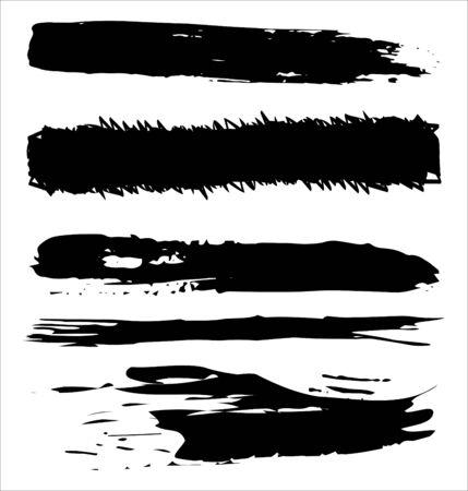 Brush strokes hand drawn vector illustration - Vector Ilustrace