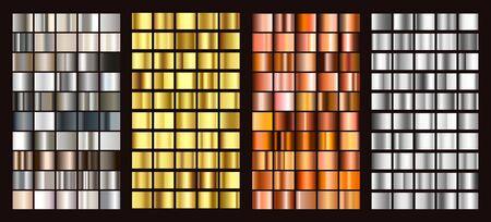 Duży zbiór wektor kolorowych gradientów. Wektor.