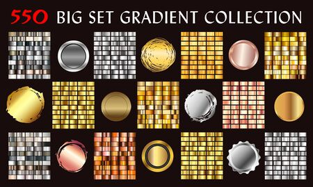 Big vector collection of colorful gradients. Vector. Illustration