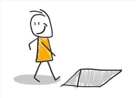Stick figures - stick figure: working life, daily life.