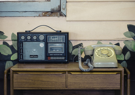 The old radio and phone