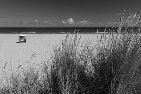 eos: Lonely beach chair on Usedom Stock Photo