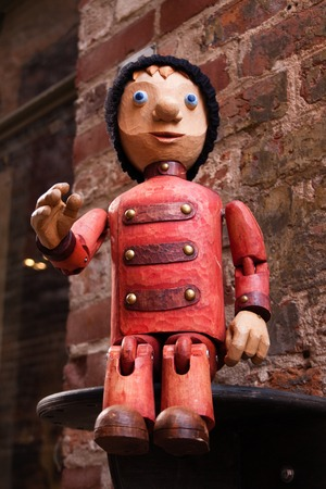 europa: Puppet in Luebeck at an old puppet theatre