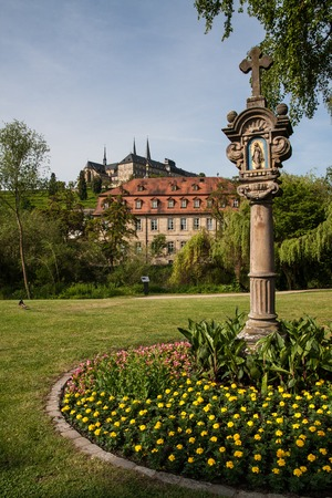 michael: View to St. Michael Church in Bamberg from a park