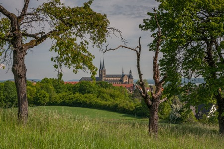 bayern old town: Scenic view of St. Micheals Church in Bamberg