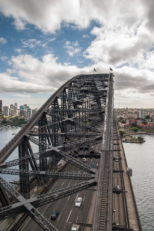 sidney: On top of the Sidney Habour bridge