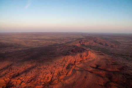hill of the king: Kings Canyon in Australia from a helicopter