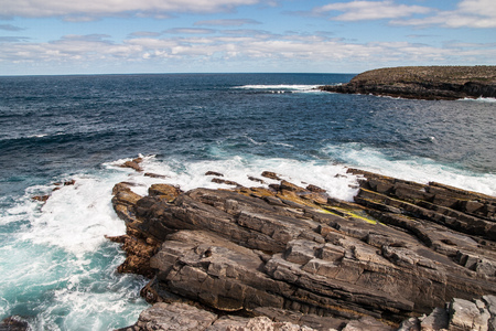 kangaroo island: View over the cliffs of Kangaroo Island