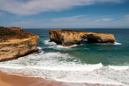 View along the Great Ocean Road in Victoria Australia Stock Photo
