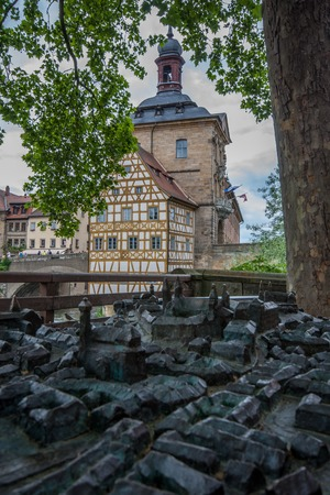 bayern old town: View to old town hall in Bamberg Stock Photo