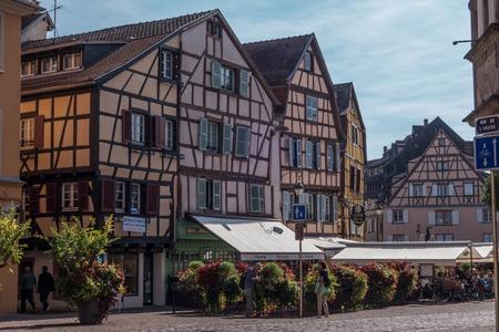 streetlife: A View of streetlife in in Colmar