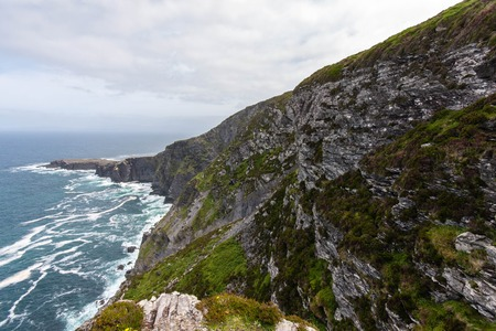 ring tones: Fogher Cliffs on the ring of kerry in ireland Stock Photo