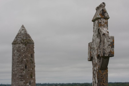 the abbot: Snapshot of parts of the Monastary Clonmacnoise in Ireland