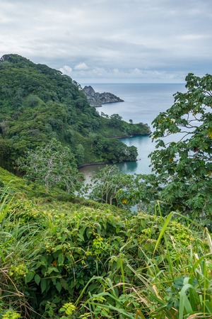 View over Catham Bay Cocos Island Costa Rica