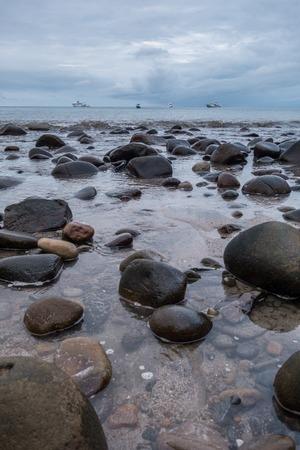 Beach Catham Bay Cocos Island Costa Rica Stock Photo