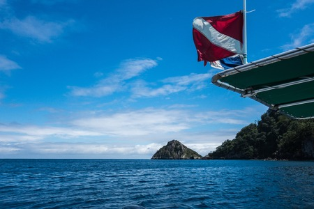 Diving Flag in Cocos Island Costa Rica