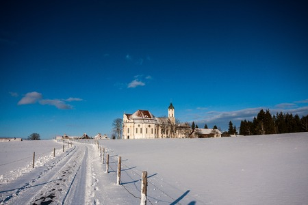 Pilgrimage Church of Wies Stock Photo