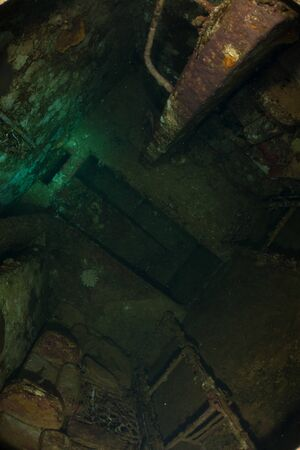 Inside the sunken Salem Express Wreck in Egypt