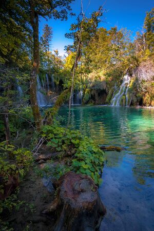 Inside the Plitvice national park in Croatia Europe