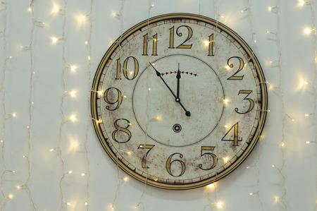 The clock at five minutes to twelve Foto de archivo