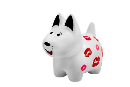 Ceramic figurine of a dog