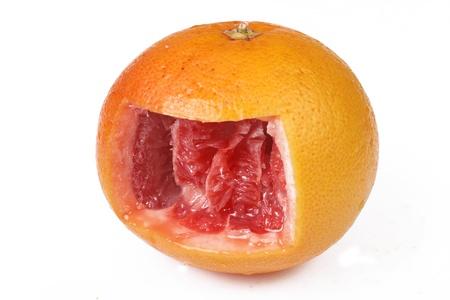 Interior of grapefruit