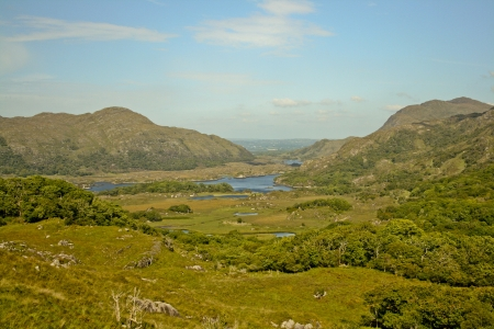 The view on beautiful irish landscape  Stock Photo