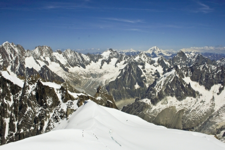 The view on beautiful alps mountains