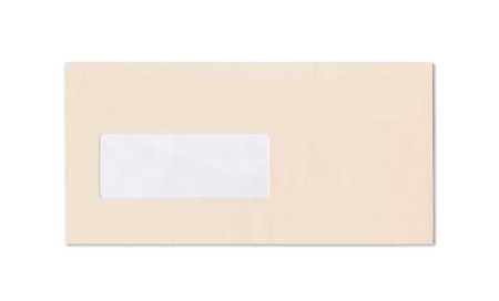 envelope on white
